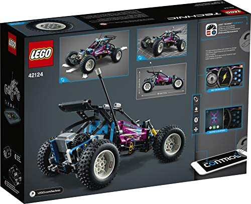 512X+j8jdOL. AC  - LEGO Technic Off-Road Buggy 42124 Model Building Kit; App-Controlled Retro RC Buggy Toy for Kids, New 2021 (374 Pieces)