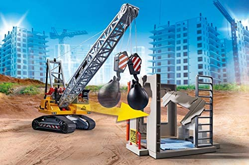 513KiCw6cZL. AC  - Playmobil Cable Excavator with Building Section
