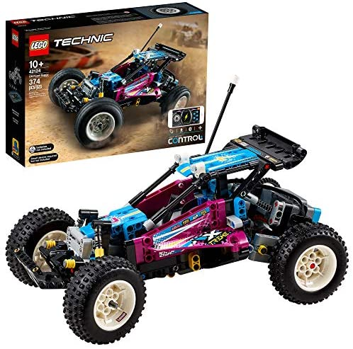 513uW4DhumL. AC  - LEGO Technic Off-Road Buggy 42124 Model Building Kit; App-Controlled Retro RC Buggy Toy for Kids, New 2021 (374 Pieces)