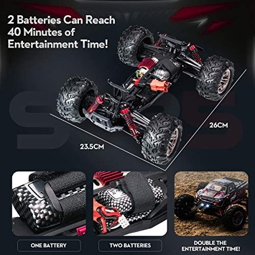 514MjCWyJqL. AC  - Hobby RC Cars,FLYHAL 9135 Pro Remote Control Car RC Cars for Adults 30+MPH 45km/h 4WD Professional IPX4 Waterproof 1:16 Scale Super Fast RC Cars Moster RC Trucks 4x4 Off Road 2 Batteries