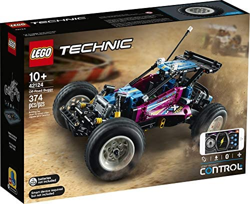 514evjO vUL. AC  - LEGO Technic Off-Road Buggy 42124 Model Building Kit; App-Controlled Retro RC Buggy Toy for Kids, New 2021 (374 Pieces)