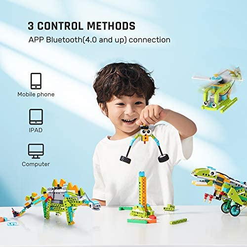 515ONd1+34L. AC  - WOOLIKE Robot Kit 100+ in 1 Robot Toys,STEM Educational Coding Science Kits for Kids ,APP Remote Control Building Robot Kit for Boys and Girls Age 6+ Years Old