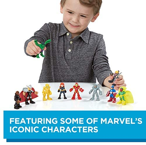 515mmYg44GL. AC  - Playskool Heroes Marvel Super Hero Adventures Ultimate Super Hero Set, 10 Collectible 2.5-Inch Action Figures, Toys for Kids Ages 3 and Up (Amazon Exclusive)
