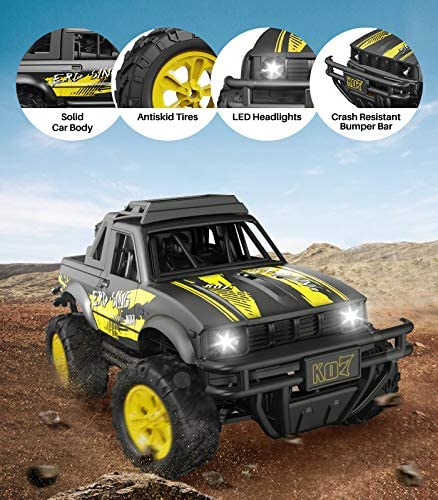 516eamUeX5L. AC  - Remote Control Jeep Dodoeleph 4X4 1:16 Large Off-Road Monster RC Trucks, 70Min Play 2.4GHz All Terrain Rock Cralwer with LED Light, High Speed Electric Vehicle Car Toy for Boys Kids