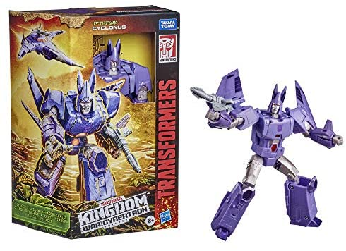 516q4sY6DRL. AC  - Transformers Toys Generations War for Cybertron: Kingdom Voyager WFC-K9 Cyclonus Action Figure - Kids Ages 8 and Up, 7-inch