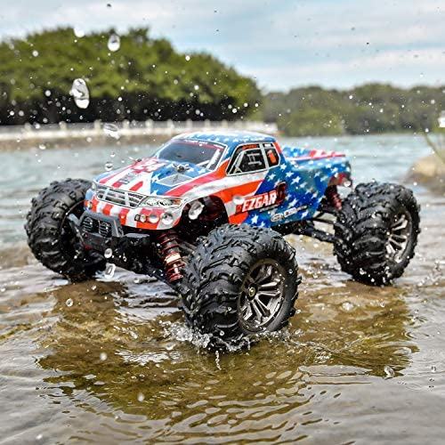 5173wVBXJCL. AC  - BEZGAR 6 Hobbyist Grade 1:16 Scale Remote Control Truck, 4WD High Speed 40+ Kmh All Terrains Electric Toy Off Road RC Monster Vehicle Car Crawler with 2 Rechargeable Batteries for Boys Kids and Adults