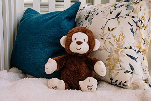 """518Vrd99OPL. AC  - Baby GUND Animated Clappy Monkey Singing and Clapping Plush Stuffed Animal, Brown, 12"""""""