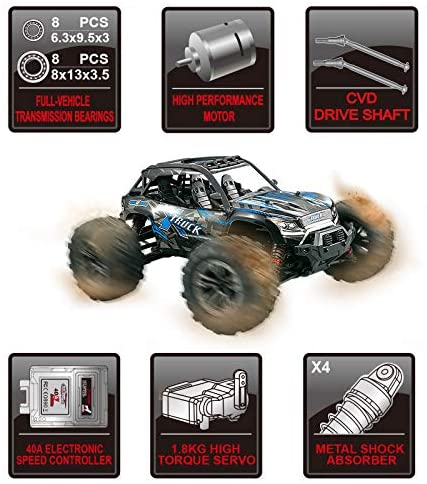 5193jBHwVML. AC  - Fistone RC Truck 1/16 High Speed Racing Car , 24MPH 4WD Off-Road Waterproof Vehicle 2.4Ghz Radio Remote Control Monster Truck Dune Buggy Hobby Toys for Kids and Adults