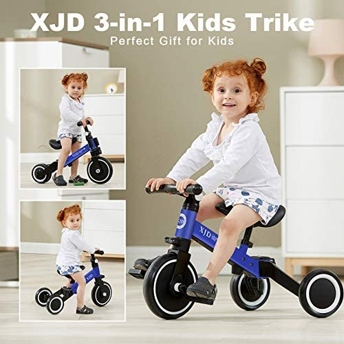 519LBZnropL. AC  - XJD 3 in 1 Kids Tricycles for 10 Month-3 Years Old Kids Trike 3 Wheel Toddler Bike Boys Girls Trikes for Toddler Tricycles Baby Bike Trike Upgrade 2.0