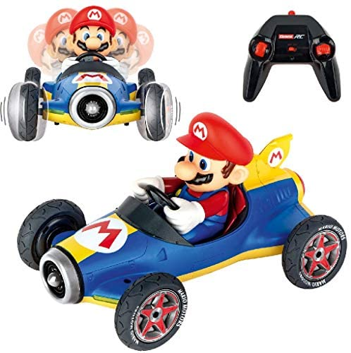 519ag7dlaUL. AC  - Carrera 181066 RC Official Licensed Kart Mach 8 Mario 1: 18 Scale 2.4 Ghz Remote Radio Control Car with Rechargeable Lifepo4 Battery - Kids Toys Boys/Girls