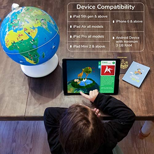 51AdJ0QzY L. AC  - Shifu Orboot (App Based): Augmented Reality Interactive Globe For Kids, Stem Toy For Boys & Girls Ages 4+ Educational Toy Gift (No Borders, No Names On Globe)