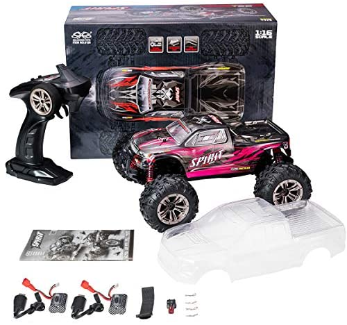 51AwsG+R8EL. AC  - Hobby RC Cars,FLYHAL 9135 Pro Remote Control Car RC Cars for Adults 30+MPH 45km/h 4WD Professional IPX4 Waterproof 1:16 Scale Super Fast RC Cars Moster RC Trucks 4x4 Off Road 2 Batteries