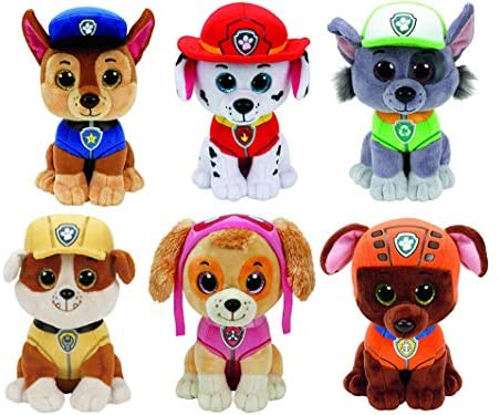 51BMCP5xHeL. AC  - Ty Paw Patrol Beanie Babies - Set of 6! Marshall, Chase, Skye, Rocky, Rubble and Zuma!