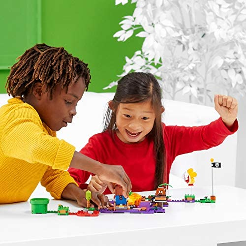 51BR krjz+L. AC  - LEGO Super Mario Wiggler's Poison Swamp Expansion Set 71383 Building Kit; Unique Gift Toy Playset for Creative Kids, New 2021 (374 Pieces)