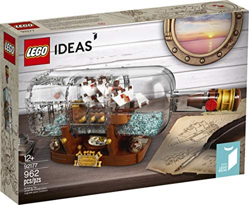 51BjH3sZx6L. AC  - LEGO Ideas Ship in a Bottle 92177 Expert Building Kit, Snap Together Model Ship, Collectible Display Set and Toy for Adults (962 Pieces)
