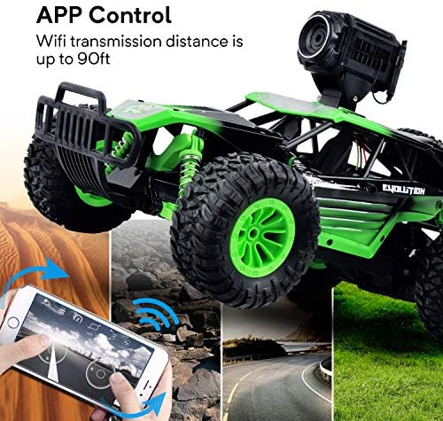 51Bt+laTJyL. AC  - Gizmovine Remote Control Car with Camera, High Speed Racing Off-Road RC Cars with 2 Rechargeable Batteries, Waterproof RC Monster Trucks Buggy Vehicle Electric Toy Cars for All Kids Boy