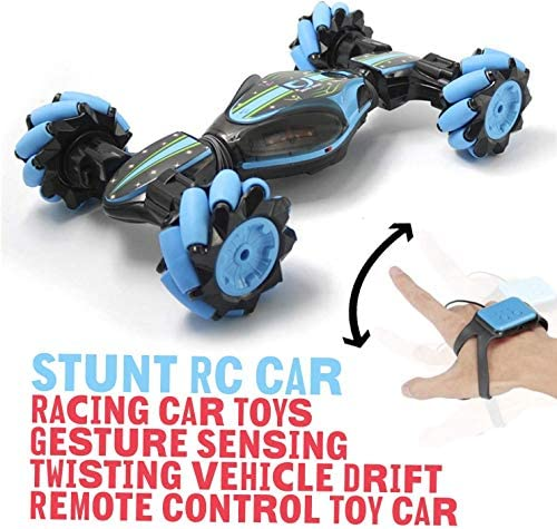 51C5w87jiIL. AC  - Remote Control Stunt Toy Car,Twisting Off-Road Vehicle,360 Degree Flip Double Sided Rotating Race Car,2.4G Gesture Sensing with Four-Wheel Drive,Best Gift for Kids and Adults.(Blue