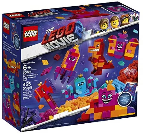 51CL3zJ31yL. AC  - LEGO The Movie 2 Queen Watevra's Build Whatever Box! 70825 Pretend Play Toy and Creative Building Kit for Girls and Boys (455 Pieces) (Discontinued by Manufacturer)