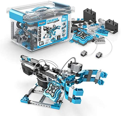 51CLXkaO9YL. AC  - Engino Toys - Creative Engineering Maker Pro Robotized 100 Models Set | Robotics and STEM Activities | for Ages 10+ (CE101MP-A)