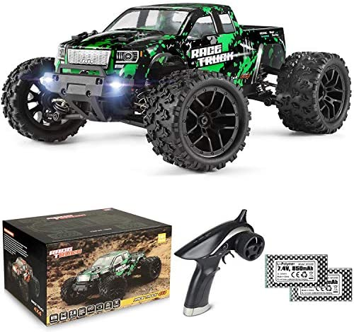 51Cyfc1u8lL. AC  - HAIBOXING 1:18 Scale All Terrain RC Car 18859E, 36 KPH High Speed 4WD Electric Vehicle with 2.4 GHz Remote Control, 4X4 Waterproof Off-Road Truck with Two Rechargeable Batteries