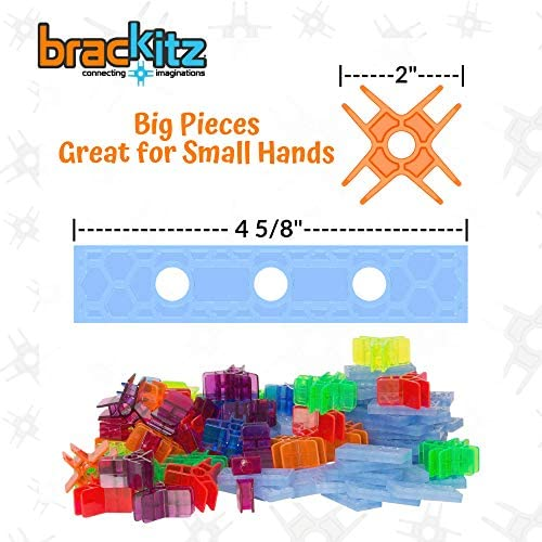 51E4tPBeH3L. AC  - Brackitz Inventor STEM Discovery Building Toy for Kids Ages 3, 4, 5, 6+ Year Olds   Best Boys & Girls Educational Engineering Construction Kits   Creative Fun Learning Toys for Children   170 Pc Set