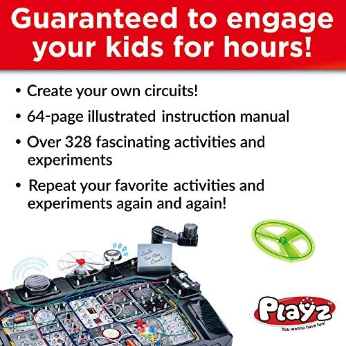 51ENr5cT8IL. AC  - Playz Advanced Electronic Circuit Board Engineering Toy for Kids   328+ Educational Experiments to Wire & Build Smart Connections Using Creative Knowledge of Electricity   Science Gift for Children