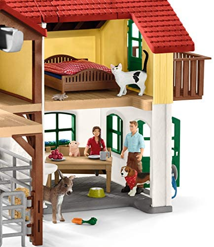 51F8nUUHguL. AC  - Schleich Farm World Large Toy Barn and Farm Animals 52-piece Playset for Toddlers and Kids Ages 3-8 Multi, 19.3 Inch