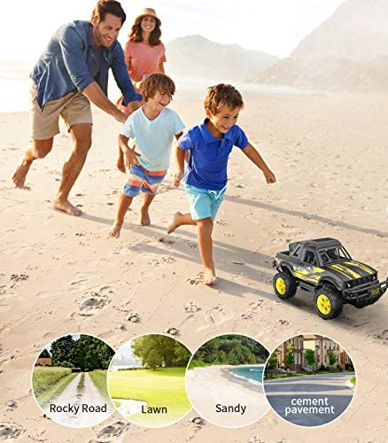51F8p Ay50L. AC  - Remote Control Jeep Dodoeleph 4X4 1:16 Large Off-Road Monster RC Trucks, 70Min Play 2.4GHz All Terrain Rock Cralwer with LED Light, High Speed Electric Vehicle Car Toy for Boys Kids