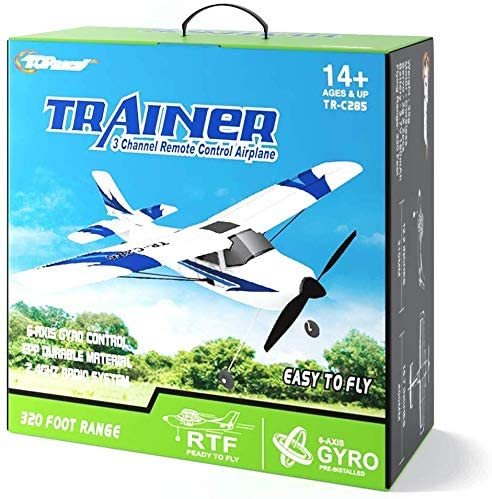 51FT++cALvL. AC  - Top Race Rc Plane 3 Channel Remote Control Airplane Ready to Fly Rc Planes for Adults, Easy & Ready to Fly, Great Gift Toy for Adults or Advanced Kids, Upgraded with Propeller Saver (TR-C285G)