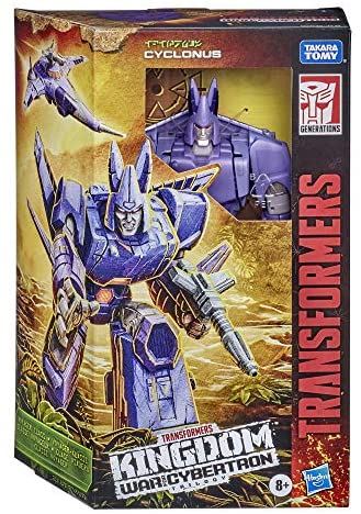 51HUbG6NrwL. AC  - Transformers Toys Generations War for Cybertron: Kingdom Voyager WFC-K9 Cyclonus Action Figure - Kids Ages 8 and Up, 7-inch