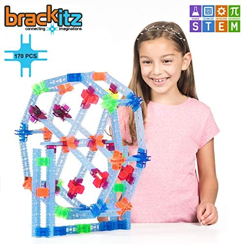 51Hcot LAVL. AC  - Brackitz Inventor STEM Discovery Building Toy for Kids Ages 3, 4, 5, 6+ Year Olds   Best Boys & Girls Educational Engineering Construction Kits   Creative Fun Learning Toys for Children   170 Pc Set