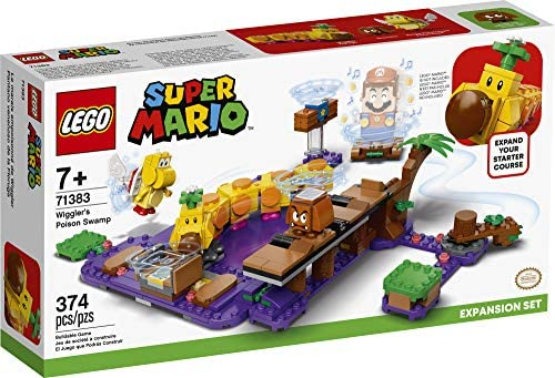 51HtfOJ2U6L. AC  - LEGO Super Mario Wiggler's Poison Swamp Expansion Set 71383 Building Kit; Unique Gift Toy Playset for Creative Kids, New 2021 (374 Pieces)