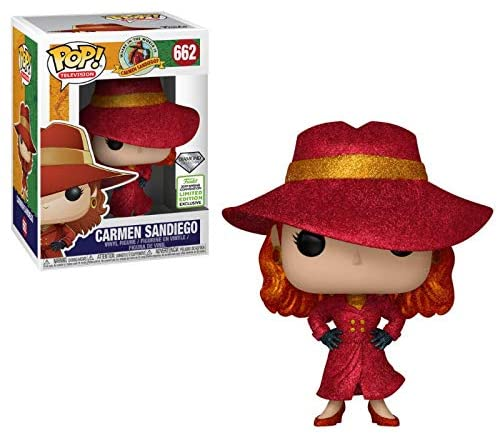 51IWm9FiDxL. AC  - POP! Funko Television Carmen SANDIEGO 2019 Spring Convention Limited Diamond Edition Exclusive