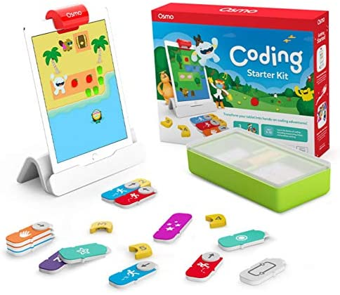 51ImxibWGIL. AC  - Osmo - Coding Starter Kit for iPad - 3 Educational Learning Games - Ages 5-10+ - Learn to Code, Coding Basics & Coding Puzzles - STEM Toy (Osmo iPad Base Included)