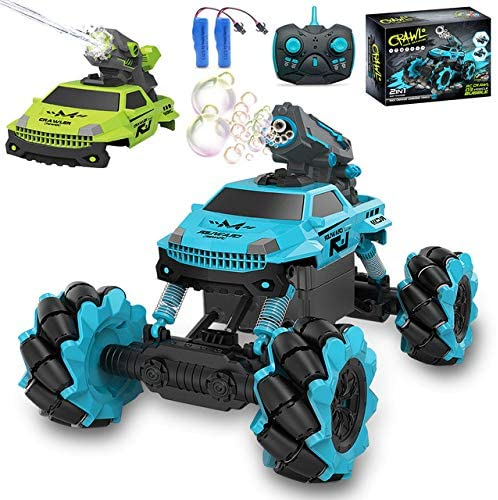 51JIPSD4hwL. AC  - Remote Control Car for Kids 1:14 Scale 2.4GHz RC Cars 4WD All Terrain Off Road Monster Truck 3 Modes Transformation Radio Crawler, Water Cannon, Bubble Machine, for 4-12 Year Old Boys & Girls