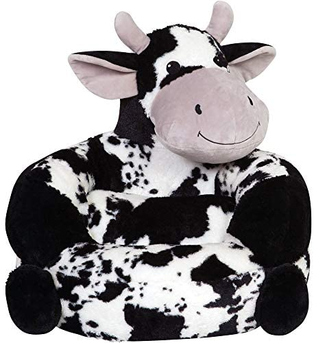 51ME7oSUljL. AC  - Trend Lab Children's Plush Cow Character Chair for Kids and Toddlers