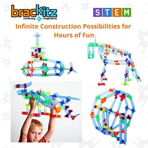 51Mn3te774L. AC  - Brackitz Inventor STEM Discovery Building Toy for Kids Ages 3, 4, 5, 6+ Year Olds   Best Boys & Girls Educational Engineering Construction Kits   Creative Fun Learning Toys for Children   170 Pc Set