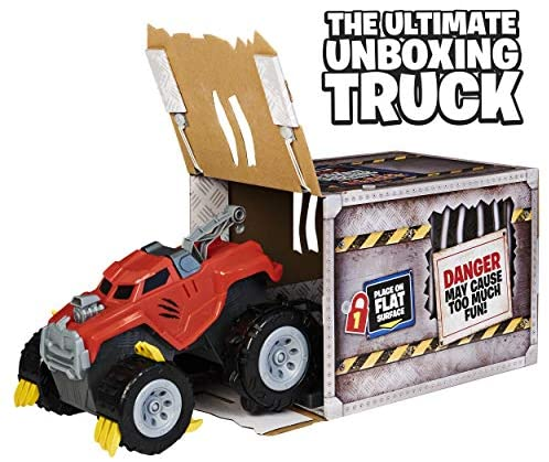 51NNzLAMPIL. AC  - The Animal, Interactive Unboxing Toy Truck with Retractable Claws and Lights and Sounds, for Kids Aged 4 and up