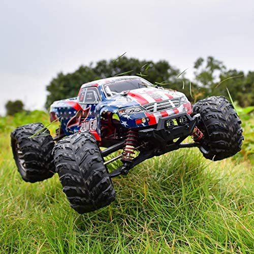 51OD5jfKcBL. AC  - BEZGAR 6 Hobbyist Grade 1:16 Scale Remote Control Truck, 4WD High Speed 40+ Kmh All Terrains Electric Toy Off Road RC Monster Vehicle Car Crawler with 2 Rechargeable Batteries for Boys Kids and Adults