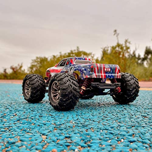51OWdfY3NxL. AC  - BEZGAR 6 Hobbyist Grade 1:16 Scale Remote Control Truck, 4WD High Speed 40+ Kmh All Terrains Electric Toy Off Road RC Monster Vehicle Car Crawler with 2 Rechargeable Batteries for Boys Kids and Adults