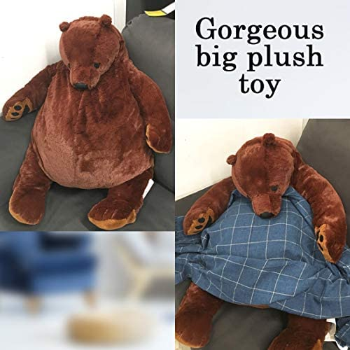 51OZNCGwR7L. AC  - Giant Simulation Bear Toy Plush Toy Pillow Soft Animal Stuffed Plush Doll Home Decor Birthday Gift (100CM/39.4IN)