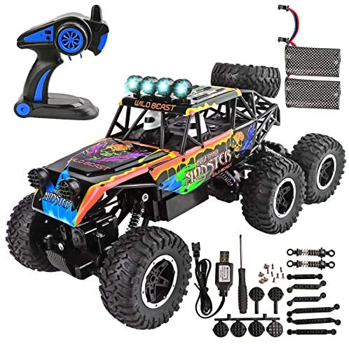 51Ou1e9kYBL. AC  - Remote Control Car for Boys - RC Trucks Off Road Car for Kids - Large 1:12 Scale RC Monster Car High Speed 6WD All Terrain Controlled Vehicle Crawler - RC Drift Cars Toys - Gifts for Kids/Boys Girls