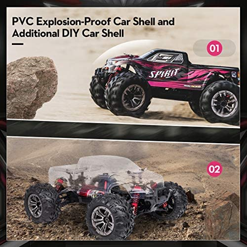 51R0T7Ap5uL. AC  - Hobby RC Cars,FLYHAL 9135 Pro Remote Control Car RC Cars for Adults 30+MPH 45km/h 4WD Professional IPX4 Waterproof 1:16 Scale Super Fast RC Cars Moster RC Trucks 4x4 Off Road 2 Batteries