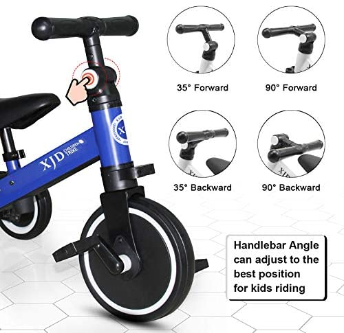 51RBLB5q7xL. AC  - XJD 3 in 1 Kids Tricycles for 10 Month-3 Years Old Kids Trike 3 Wheel Toddler Bike Boys Girls Trikes for Toddler Tricycles Baby Bike Trike Upgrade 2.0
