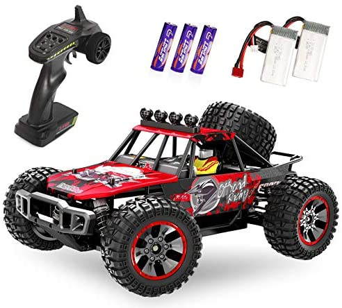 51RKhpkYGaL. AC  - RC Cars, 1/10 Scale Large High-Speed Remote Control Car for Adults Kids, 48+ kmh 4WD 2.4GHz Off-Road Monster RC Truck, All Terrain Electric Vehicle Toys Boys Gift with 2 Batteries for 40+ Min Play