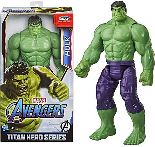 51RcE7uYdmL. AC  - Avengers Marvel Titan Hero Series Blast Gear Deluxe Hulk Action Figure, 12-Inch Toy, Inspired by Marvel Comics, for Kids Ages 4 and Up