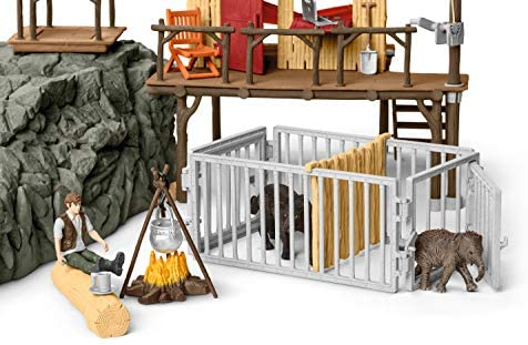 51RiG6fxqDL. AC  - Schleich Wild Life Crocodile Jungle Research Station with Jungle Animals 69-piece Playset for Kids Ages 3-8