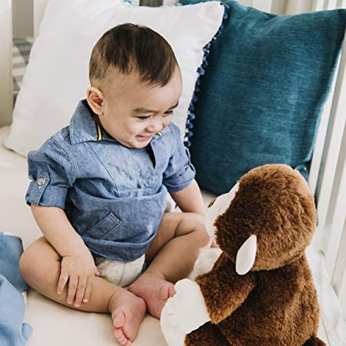 """51RsJvVyrZL. AC  - Baby GUND Animated Clappy Monkey Singing and Clapping Plush Stuffed Animal, Brown, 12"""""""