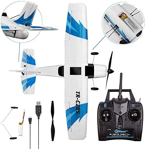 51ScIGXqFDL. AC  - Top Race Rc Plane 3 Channel Remote Control Airplane Ready to Fly Rc Planes for Adults, Easy & Ready to Fly, Great Gift Toy for Adults or Advanced Kids, Upgraded with Propeller Saver (TR-C285G)