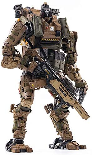 51T55umIs3L. AC  - JOYTOY 1/18 Action Figures 09th Legion-Fear(Assault) Armor Anime Figure Collection Model Dark Source Toys (Brown)
